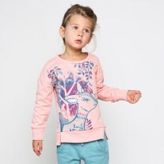 Розовый джемпер для девочки с принтом