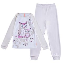 """Пижама для девочки с принтом """"Сова"""""""