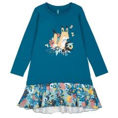 """Синее платье для девочки """"Лисичка"""""""