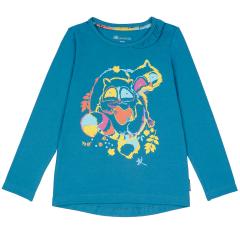 Синий джемпер для девочки с принтом