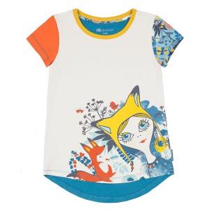 Разноцветная футболка для девочки